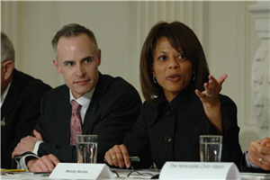 Melody Barnes, Director of Domestic Policy during the White House Forum on Health Reform (photo by Pete Souza)