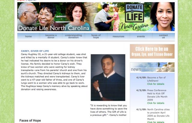 organ donation, advocacy